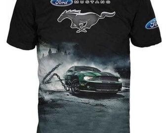 4ff328188 Men's Print T-Shirt with Ford Mustang Shelby #6266
