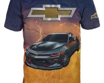 bcd0c90f Men's Print T-Shirt with Chevrolet Camaro #6260