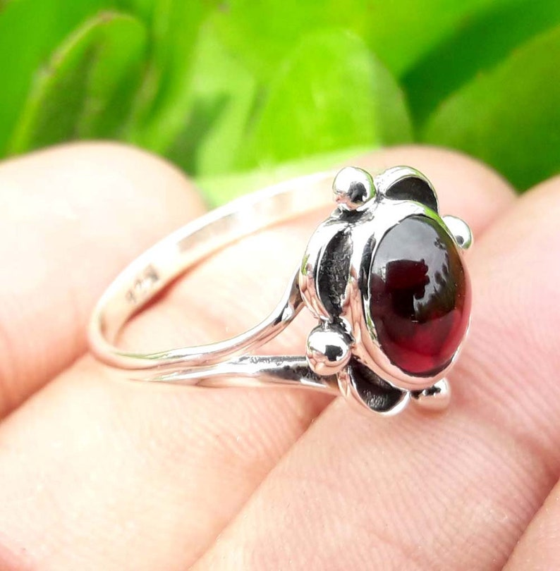 Women Jewelry Traditional Ring Handmade Ring Gemstone Ring Garnet Ring Beautiful Ring 92.5/% Sterling Silver Ring Birthday Jewelry