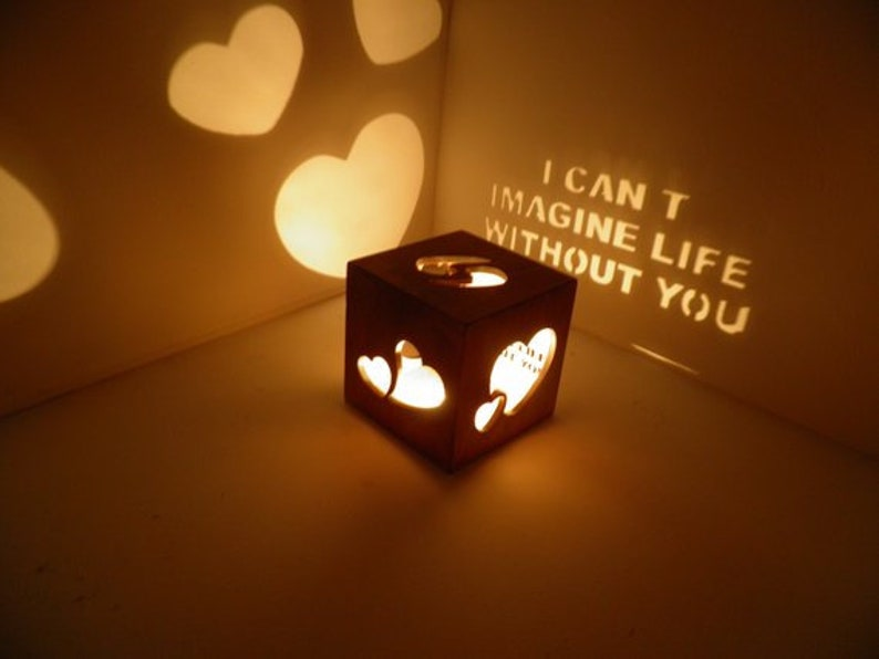 Personalized lantern magic box romance gift couple girlfriend boyfriend first anniversary gift names beloved person candle light letters