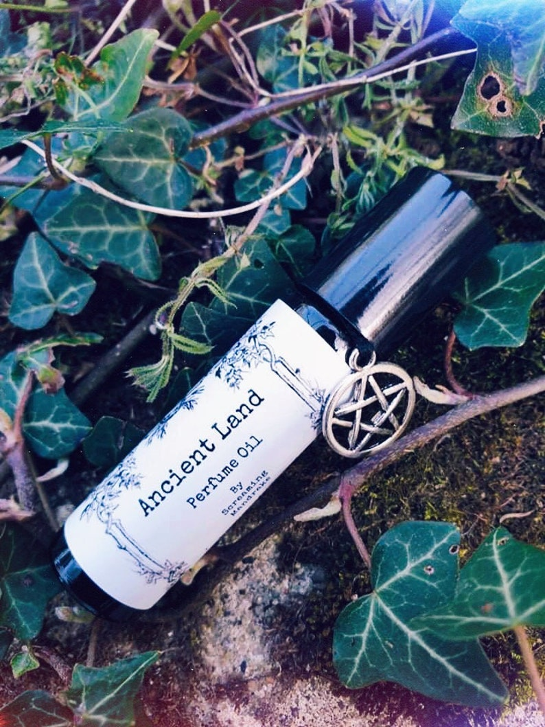 Ancient Land Perfume Oil  Wicca perfume essential oil rollerball  aromatherapy pagan witch magic occult screaming mandrake goth pagan