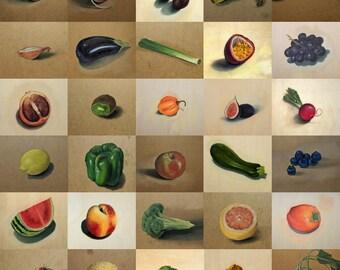 Custom Fruit or Veg Painting  | Original Artwork | Original Oil Paintings | Handmade in the UK