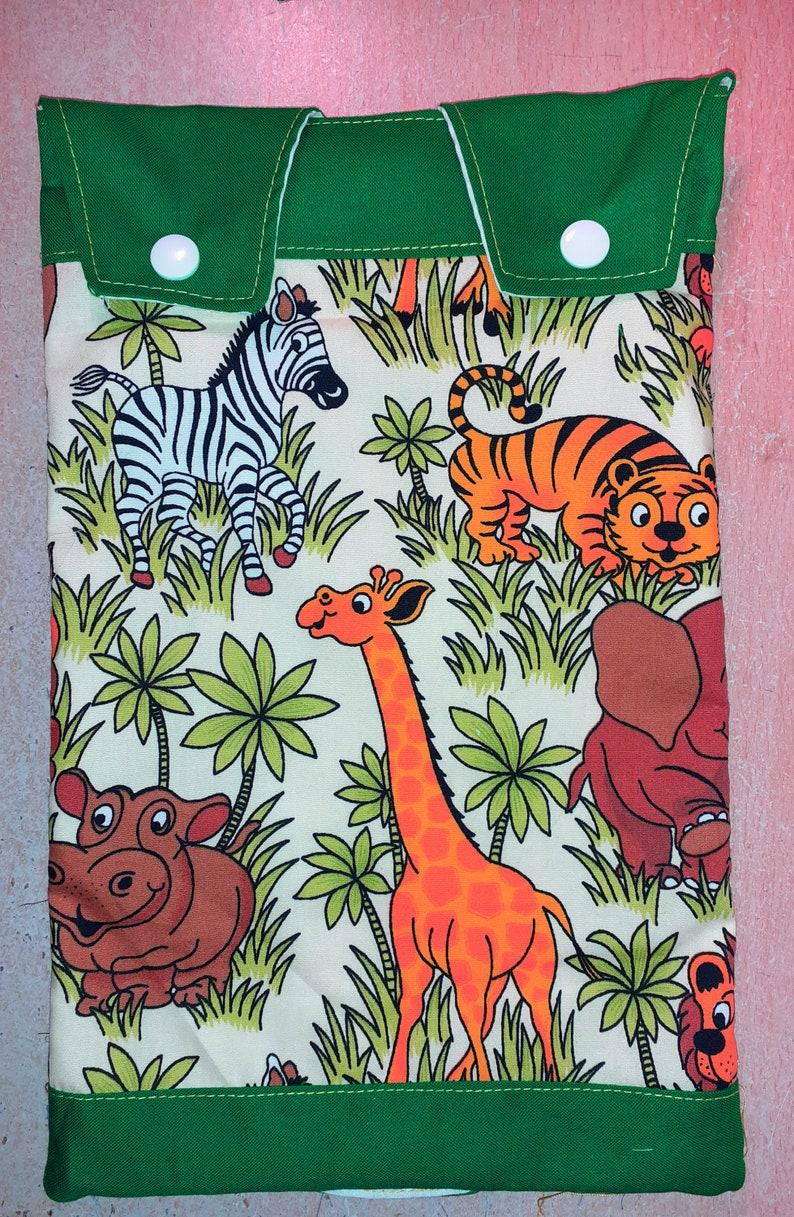 Catheter leg bag cover. Cotton Jungle pattern