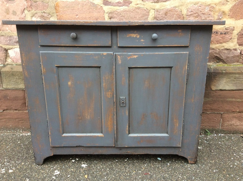 separation shoes f860f 9cbfd Buffet bahut rustic sideboard shabby chic painted Alsace