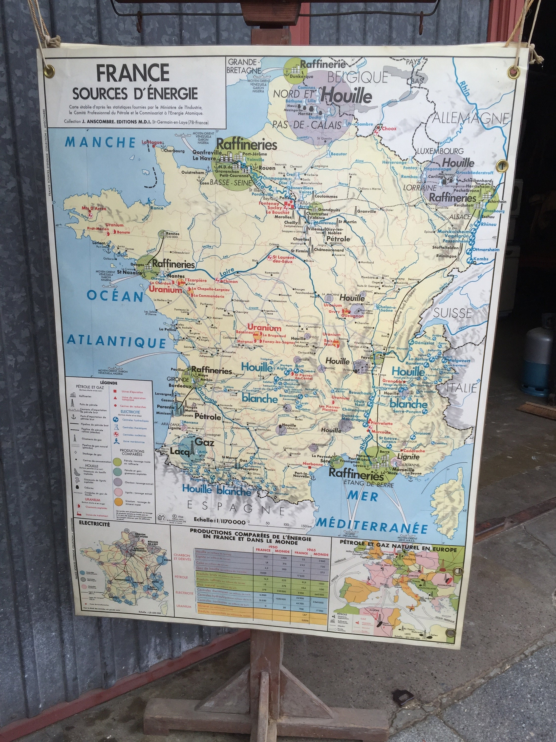 Map Of France 1500.Old School Poster France Vintage 60s French School Map School Map
