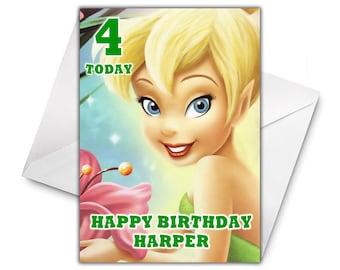 TINKERBELL PETER PAN Personalised Birthday Card