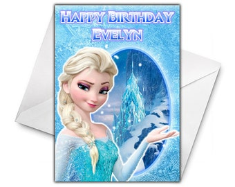 DISNEY FROZEN ELSA Personalised Birthday Card