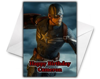 CAPTAIN AMERICA Personalised Birthday Card