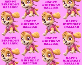 SKYE PAW PATROL Personalised Wrapping Paper