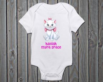 fdbf2e45a945 MARIE ARISTOCATS Personalised Baby Vest - Romper - Sleepsuit - Onsie -  Babygrow - Disney Personalised Baby Romper - Disney Marie Clothing