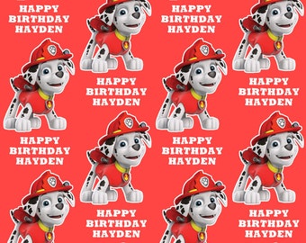MARSHALL PAW PATROL Personalised Wrapping Paper