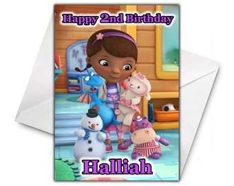 DOC MCSTUFFINS Personalised Birthday Card