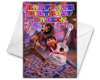 DISNEY COCO Personalised Birthday Card