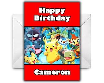 POKEMON PIKACHU Personalised Birthday Card