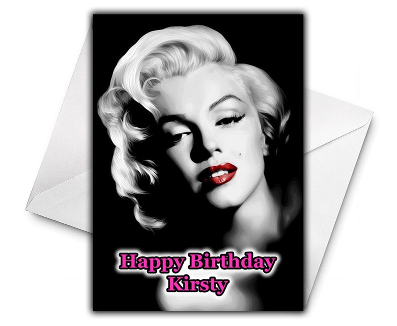 MARILYN MONROE Personalised Birthday Card Large Size A5