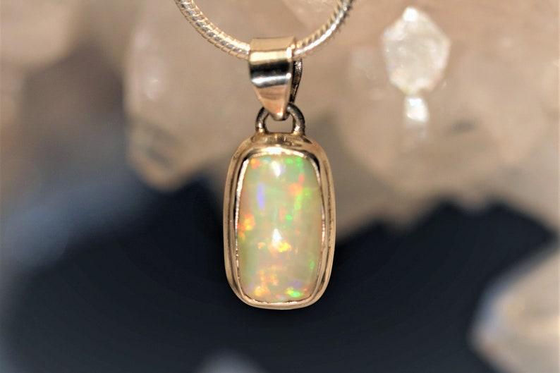 Precious Opal Pendant Comfort 925 Sterling Silver Handmade Unique 1a Quality