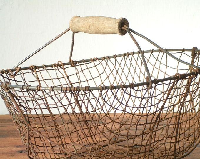 decorative old vintage wire basket