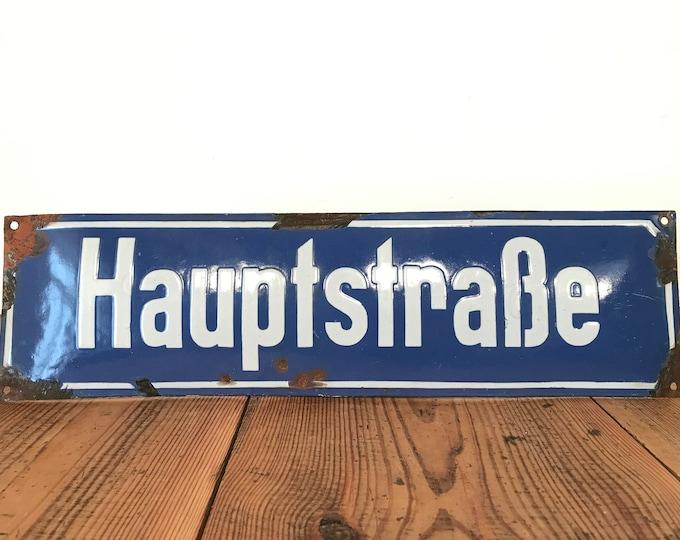 altes Strassenschild Hauptstrasse