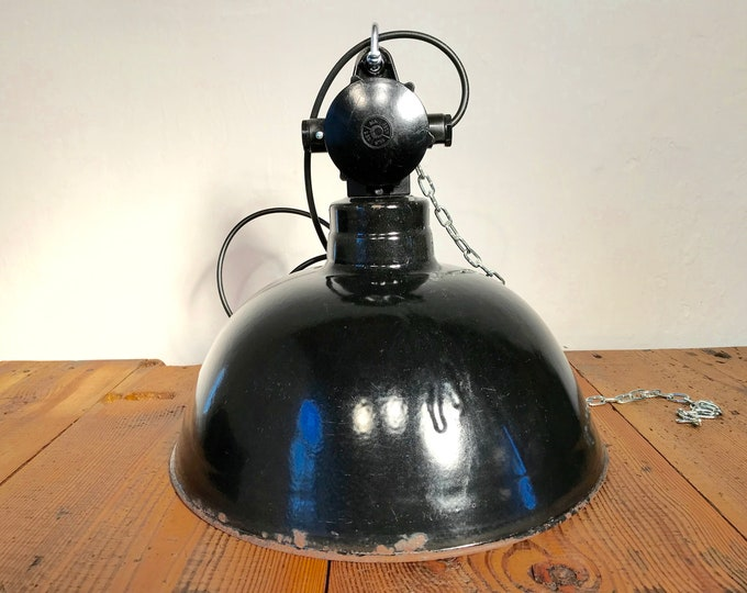 original DDR Fabriklampe Vintage 38 cm