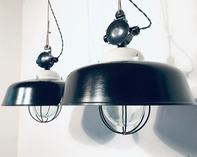 2er Set Fabriklampen Bakelit Glaskolben (1x)