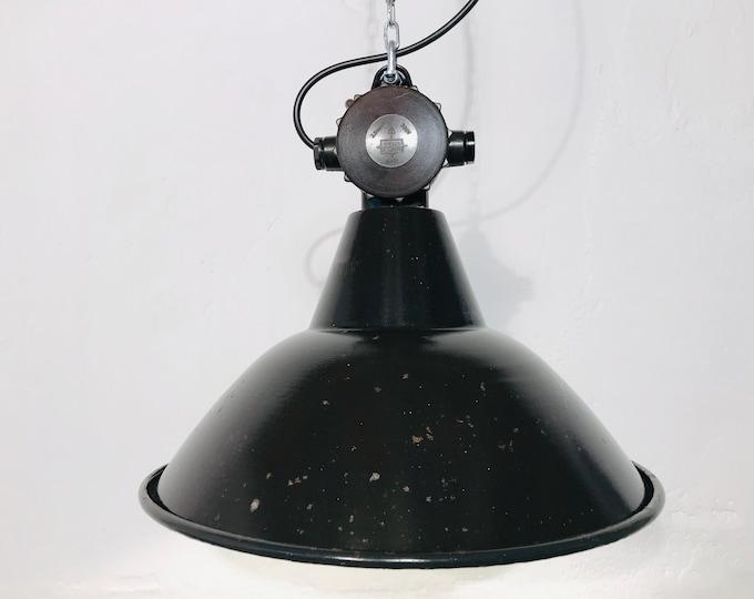 original VEB Fabriklampe DDR 38 cm