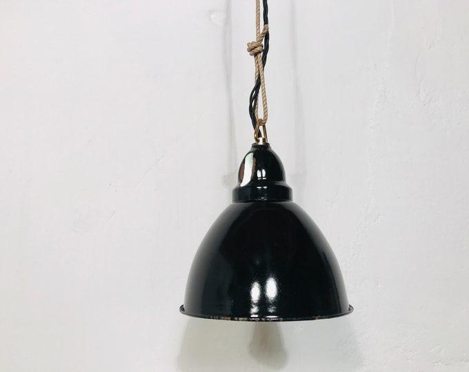 kleine Art Deco Emaillelampe 18 cm