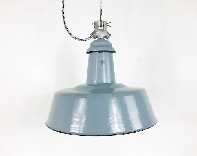 Emaillelampe grau 20s 30s