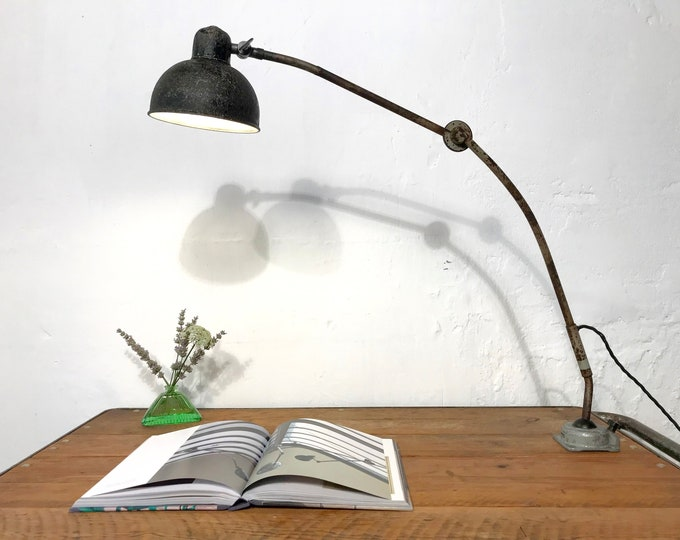 Gelenklampe Schreibtischlampe mit Patina