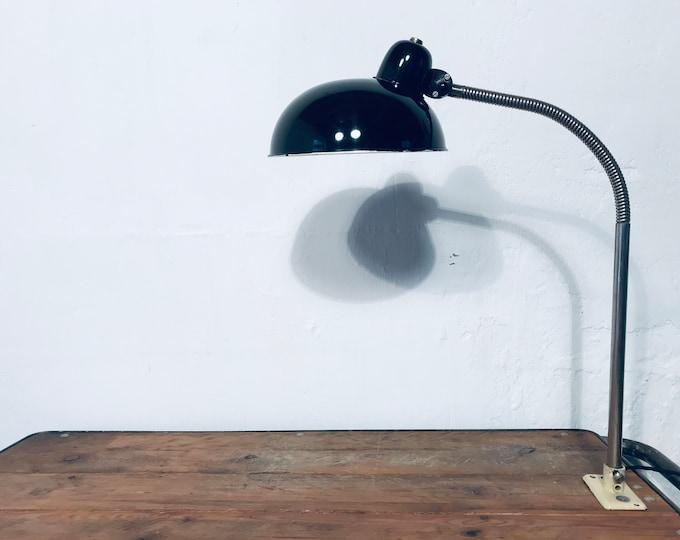 Schwanenhals Schreibtischlampe schwarz (1x)