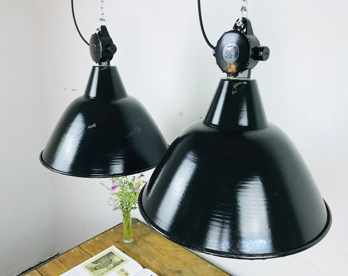 2er Set VEB Fabriklampen DDR