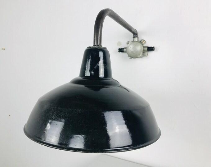 Emaille Wandlampe Auslegerlampe