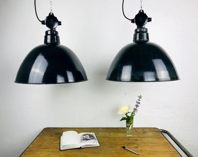 XL original Fabriklampe DDR 48 cm