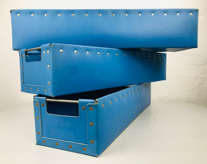 Vulkanfiber Kisten blau
