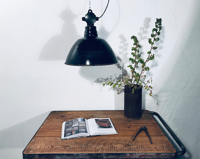 original Fabriklampe 42 cm DDR