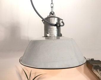emaille lampe weiß
