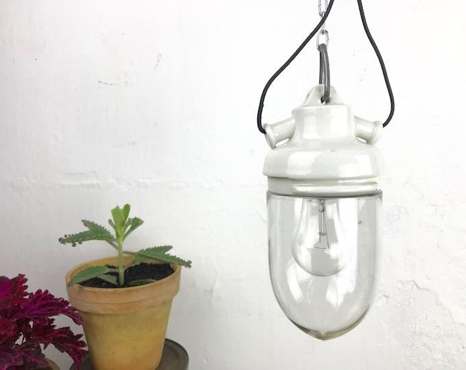 kleine Glaskolbenlampe Hängelampe