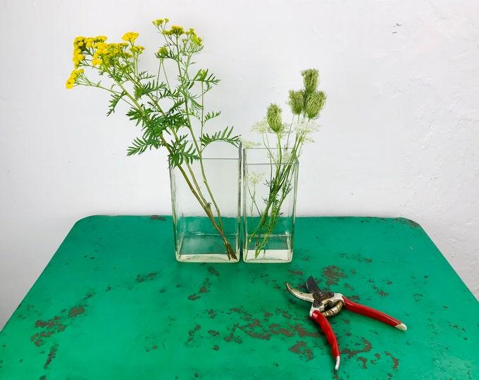 "Glasvase ""Rainfarn"" 23x13x9,5 cm eckig"
