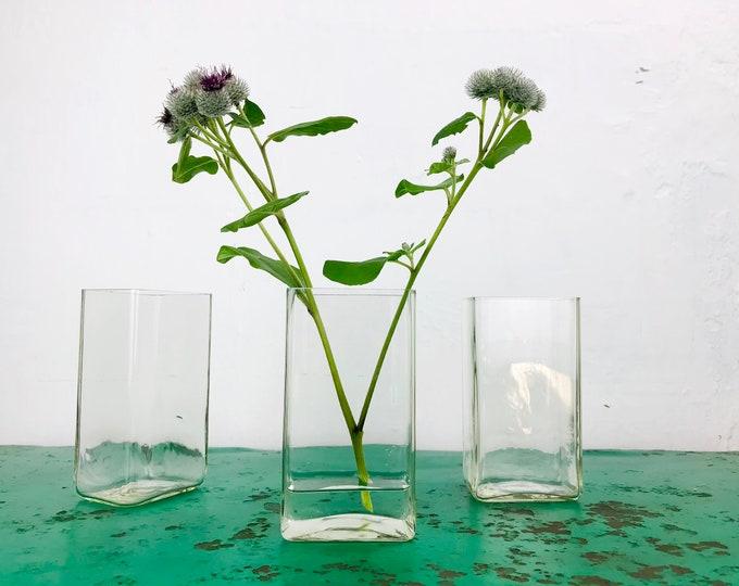 """kleine Glasvase """"Klette"""" 15x8x6 cm eckig"""