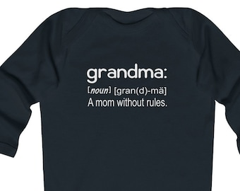 15985805 Baby Onesie© Grandma A Mom Without Rules, Funny Baby Clothing, Baby Shower  Gift, Grandma Onesie, Baby Gift From Grandmother