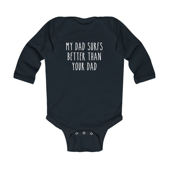 My Mommy Surfs Better Than Your Daddy Girls Cotton Baby Onesie Bodysuit