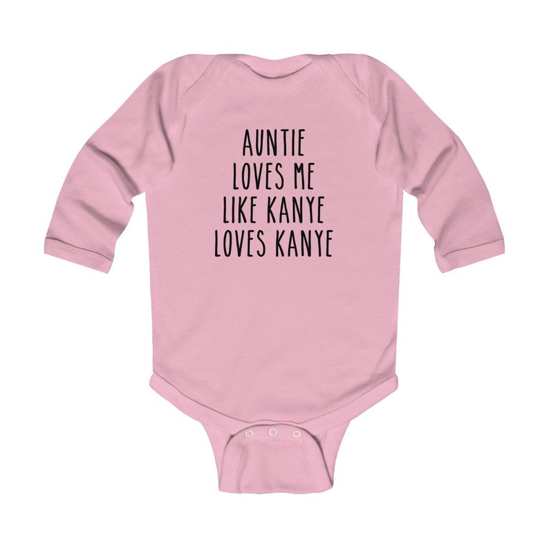 Funny Baby Shirt-Auntie Loves Me Like Kanye Loves Kanye-Funny Baby Onesie\u00ae-Baby Boy-Baby Girl-Gift for New Baby-Trendy Baby Clothes