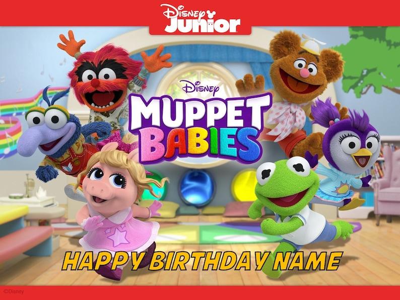 Muppet Babies Kermit Piggy Edible Image Birthday Cake Topper 1/4 Sheet  Personalized