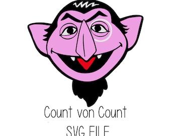 Sesame Street Count Von Count Face Adult T Shirt Movie Tv