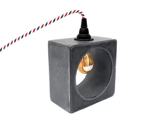 Black Concrete Lamp