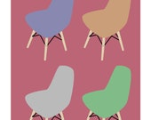 Charles Eames DSW inspired Mid-Century Modern art print