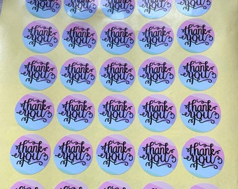 Thank You Stickers Sheet Of Stickers Business, Business Stickers Thank You, Circle Stickers, Business Supplies, Colourful Stickers, A4