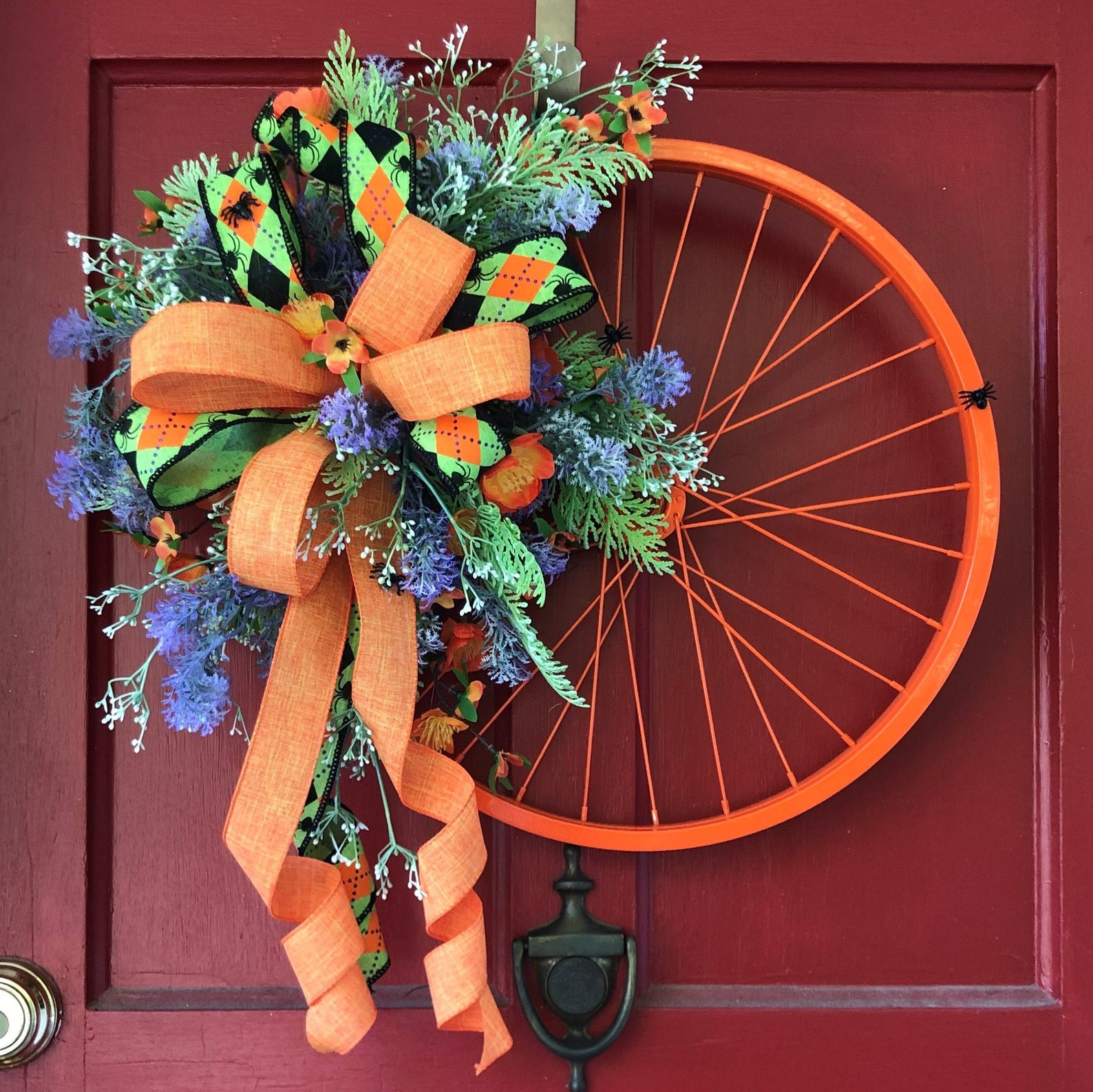 Halloween Bicycle Wheel Wreaths