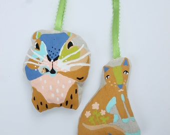 Aromatherapy, Clothing, Concentration, Ornaments, Home Freshener Set of Two Universal Beings Art Dolls Hand Painted Lemon Verbena Sachets