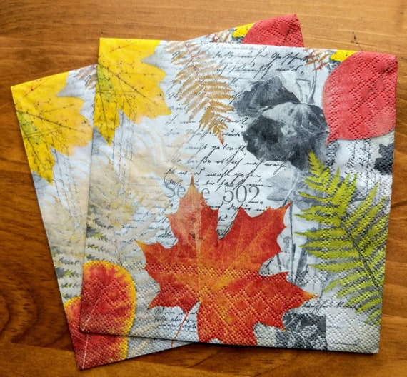 4 x Single Paper Table Napkin//Decoupage//Dining//Vintage//Craft//Happy Frogs