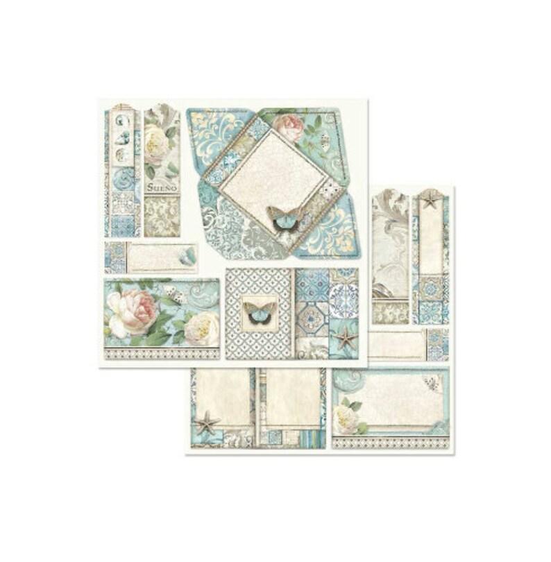 Azulejos de Sueno Stamperia 8 Scrapbook Pad